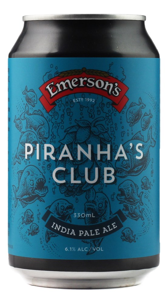 EMERSONS PIRANHA'S CLUB IPA 330ML