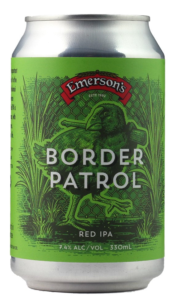 EMERSONS BORDER PATROL RED IPA  330ML