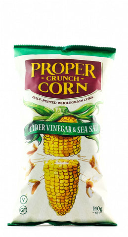 **PROPER CORN CRUNCH CORN CIDER VINEGAR 140GM