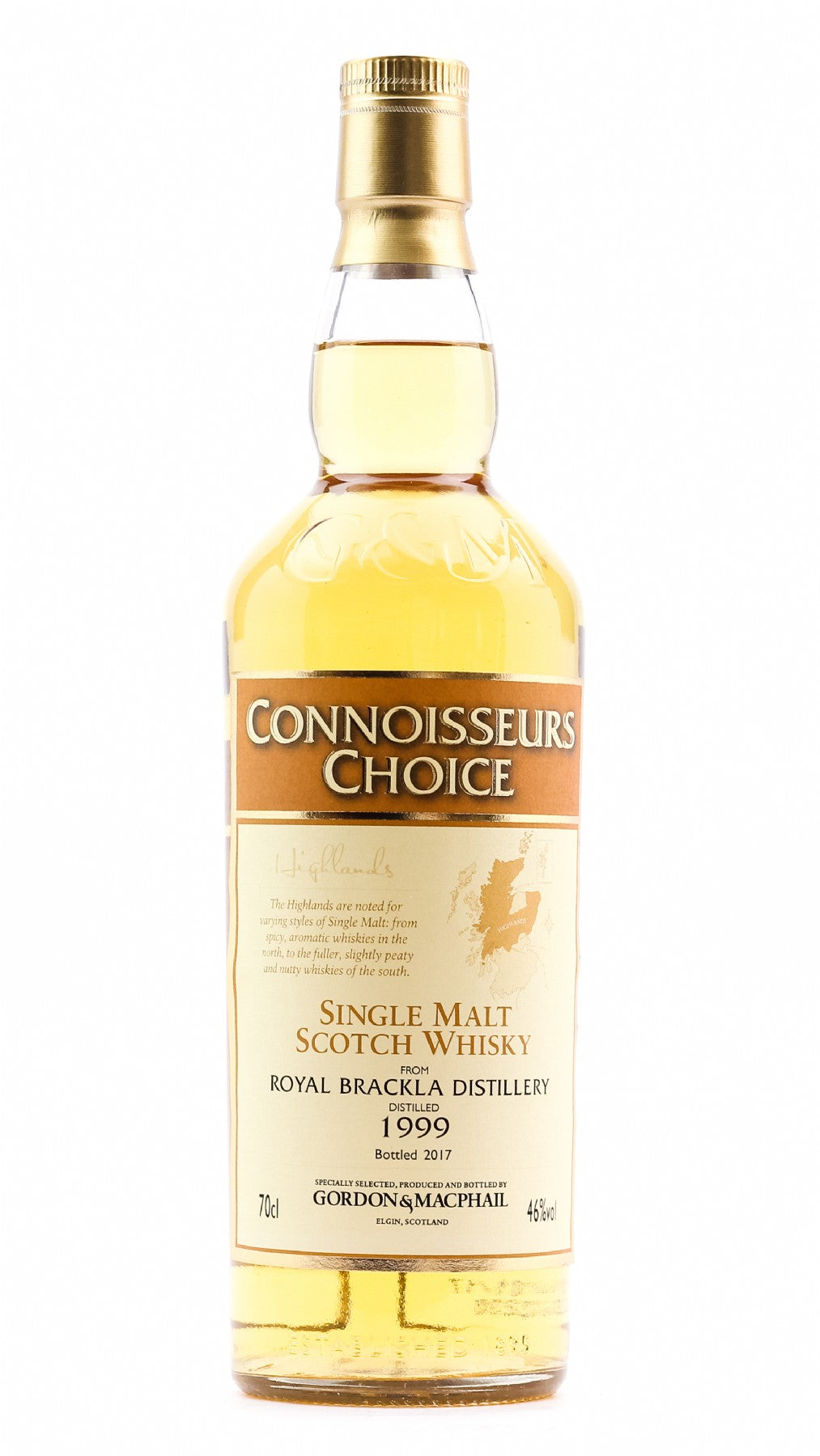 ROYAL BRACKLA CONNOISSEURS CHOICE 19999/2017 46% 700ML