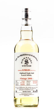 CLYNELISH SIGNATORY 2008 UCF 46% 700ML