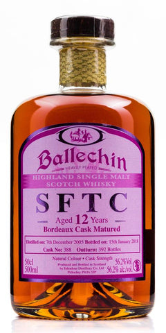BALLECHIN 'STRAIGHT FROM THE CASK' 2005 12YO BORDEAUX 56.2% 500ML