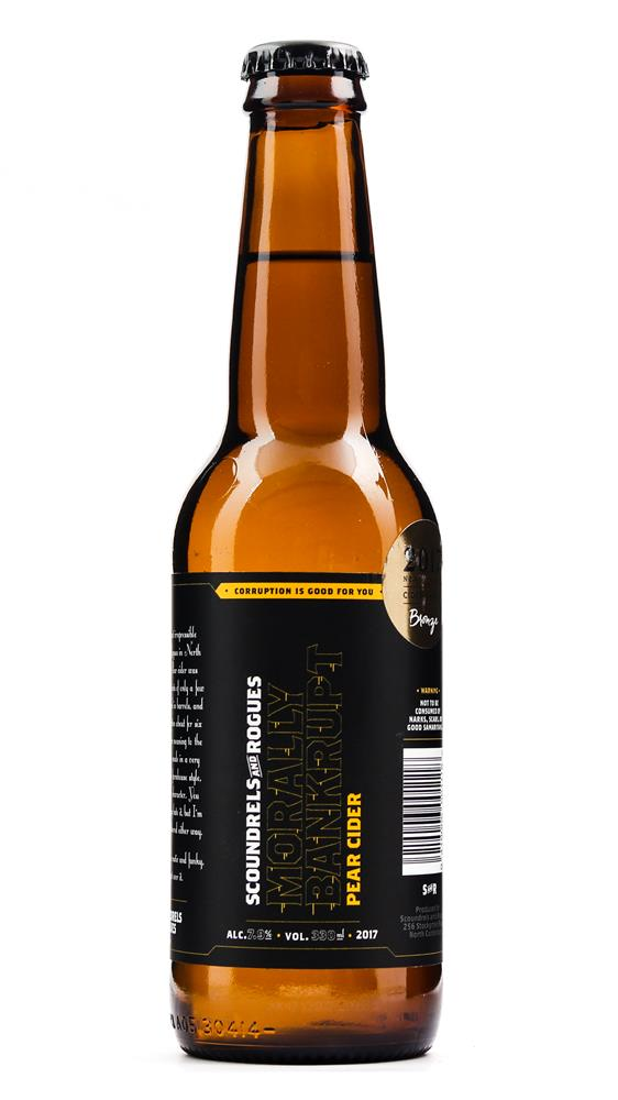 SCOUNDRELS & ROGUES MORALLY BANKRUPT PEAR CIDER 330ML