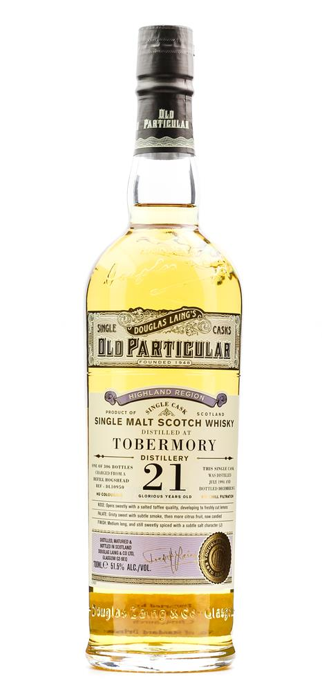 OLD PARTICULAR TOBERMORY 1994 21 YO 51.5% 700ML