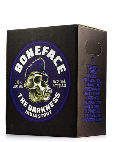 BONEFACE THE DARKNESS STOUT 330ML 6 PACK