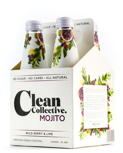 CLEAN COLLECTIVE MOJITO WILD BERRY & LIME 4PK