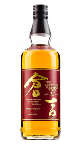KURAYOSHI 12YO PURE MALT WHISKY 43% 700ML