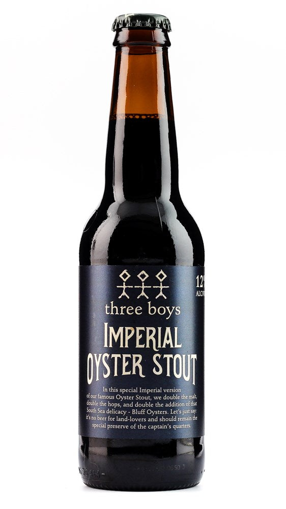 THREE BOYS IMPERIAL OYSTER STOUT 12% 330ML