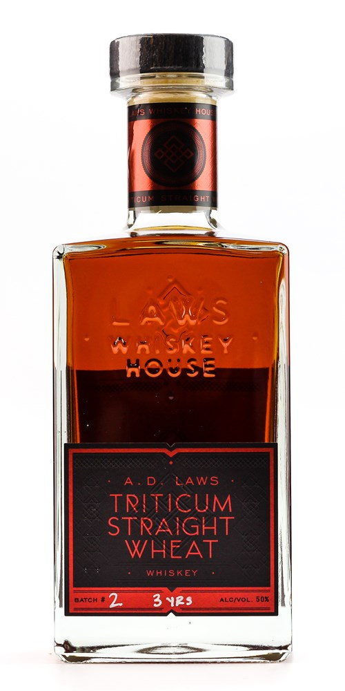 A D LAWS TRITICUM STRAIGHT WHEAT WHISKEY
