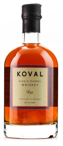 KOVAL RYE WHISKEY 40% 500ML