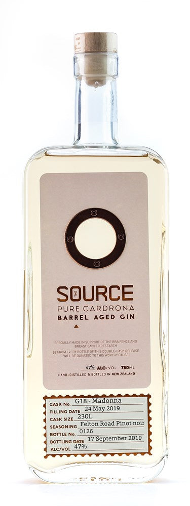 CARDRONA THE SOURCE GIN FELTON RD BARREL AGED PINOT NOIR ED'N 47% 750ML