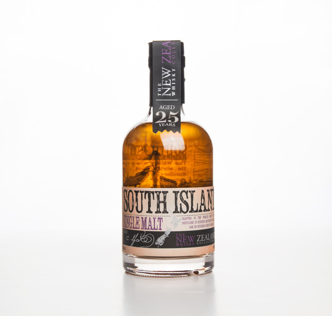 NZWC STH ISLAND SINGLE MALT 25YO 40% 350