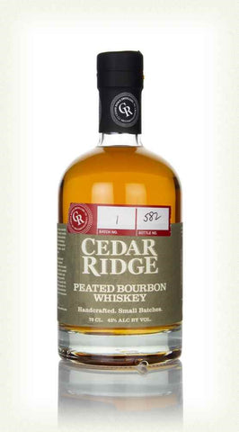 CEDAR RIDGE PEATED BOURBON 43% 700ML