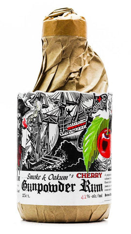GUNPOWDER 'CHERRY' RUM FLASK 250ML