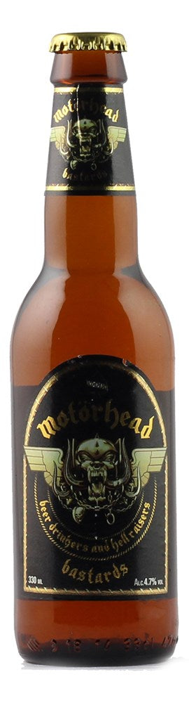 MOTORHEAD BASTARDS LAGER 330ML (DATED)