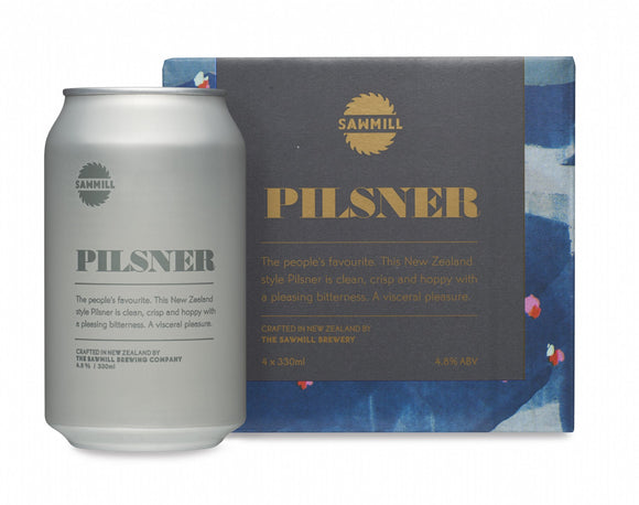 SAWMILL PILSNER CAN 330ML 4 PACK