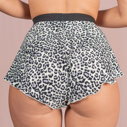 Tall French Knicker - Snow Leopard