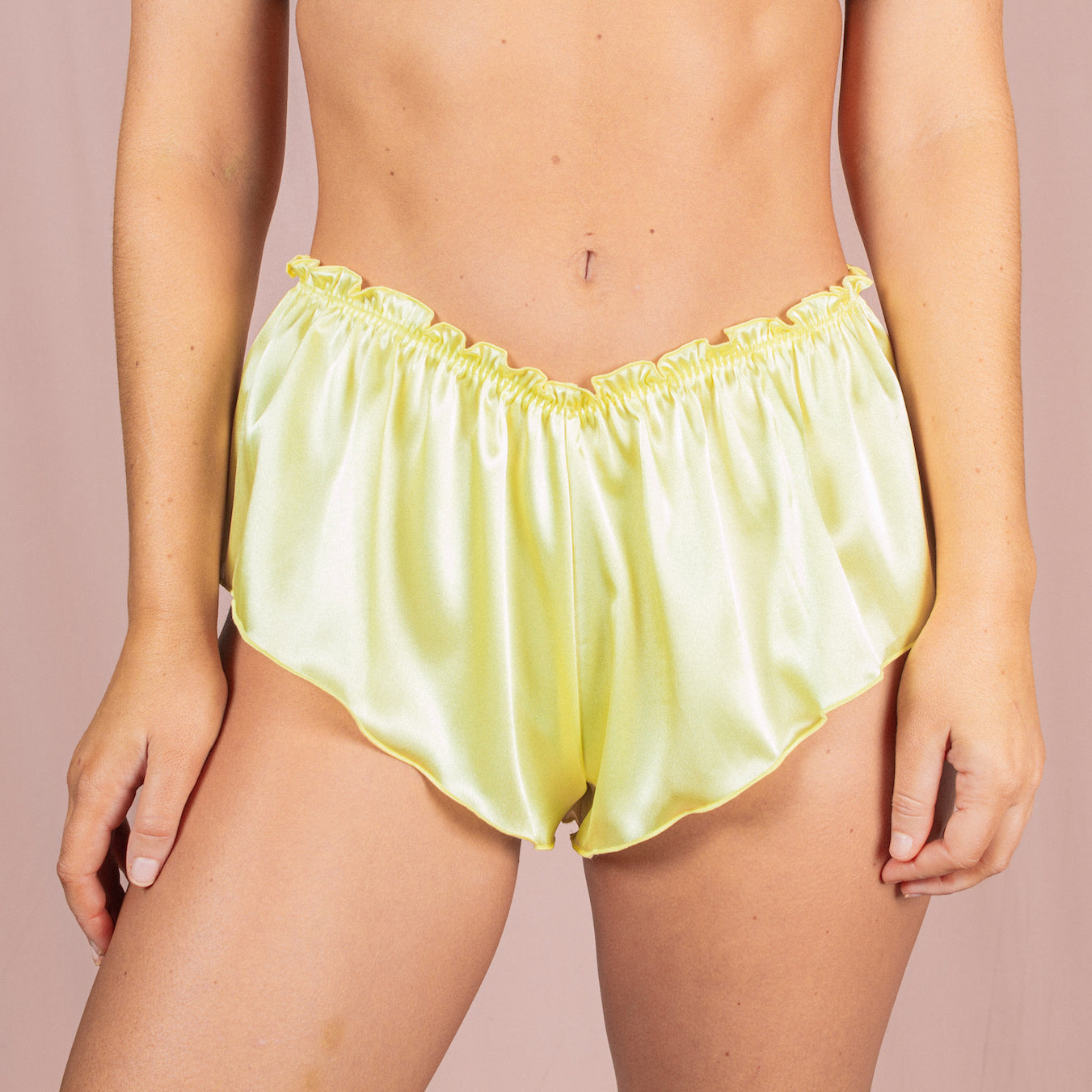 Classic French Knicker - Lemon Yellow
