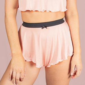 Tall French Knicker - Peach Jersey