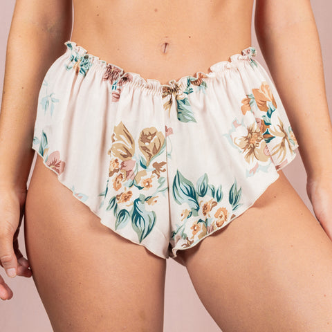 Floral Print Rayon French Knickers