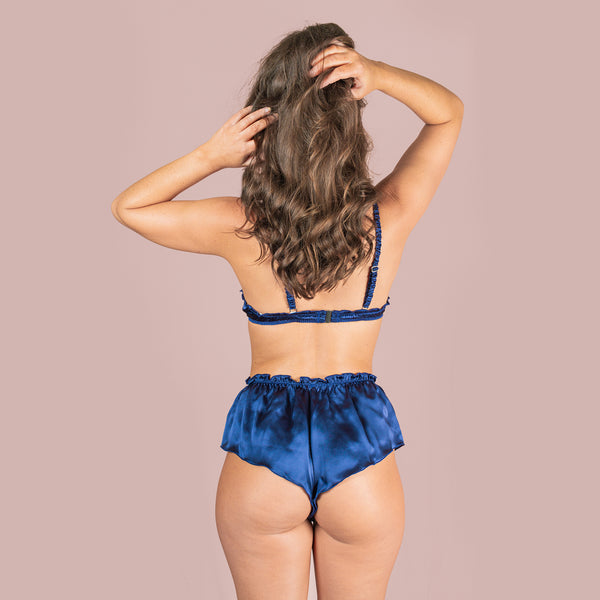 Classic Silk French Knicker - Navy