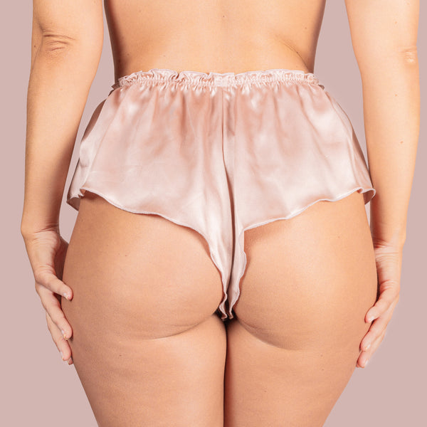 Classic Silk French Knicker - Rose Gold