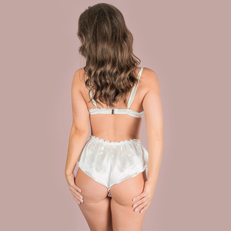 Classic French Knicker - Ivory Silk