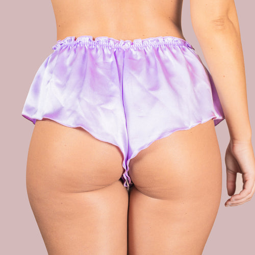 Classic Silk French Knicker - Lavender