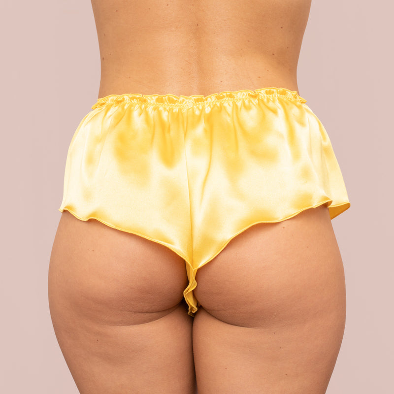 Classic Silk French Knicker - Marigold Yellow