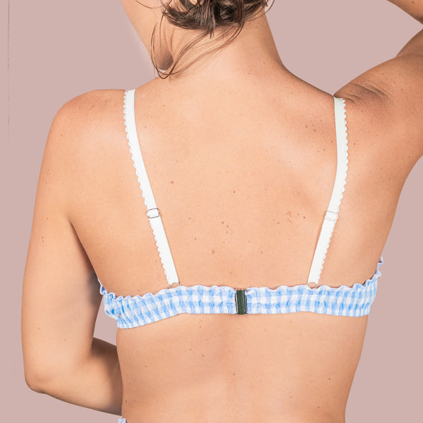 Ruffle Bralette - Cotton Gingham