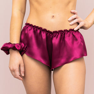 Classic French Knicker - Plum Silk
