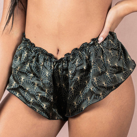 Roaring 20s Print 100% Silk Classic French Knicker