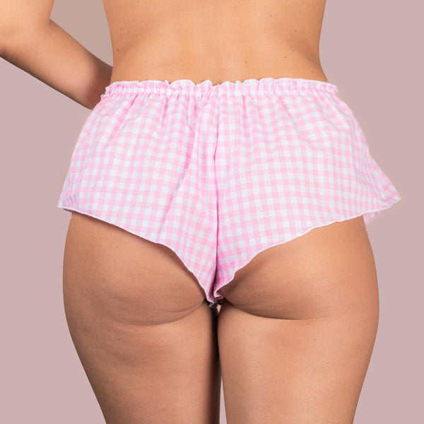 Classic French Knicker - Pink Cotton Gingham