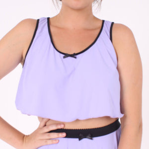 Pastel purple cropped camisole