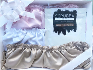 Neapolitan Trio - 3 French Knickers + Scrubba Body Scrub