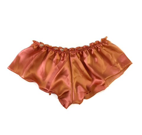 Classic Silk French Knicker - Burnt Orange