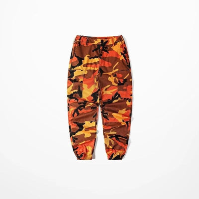 Pantalon CAMO - Orange / M - Boutique en ligne Streetwear
