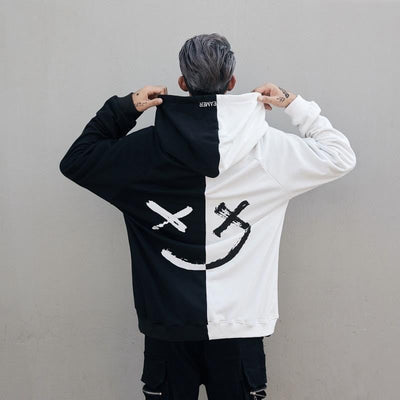 Sweat Hoodie SMILE - Blanc / S - Boutique en ligne Streetwear
