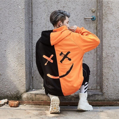 Sweat Hoodie SMILE - Orange / S - Boutique en ligne Streetwear