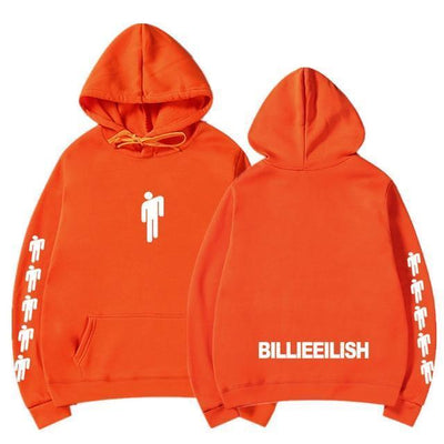 Hoodie BILLIE EILISH™ - Orange / S - Boutique en ligne Streetwear