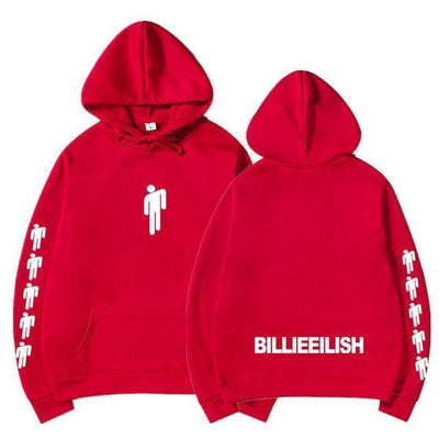 Hoodie BILLIE EILISH™ - Rouge / S - Boutique en ligne Streetwear