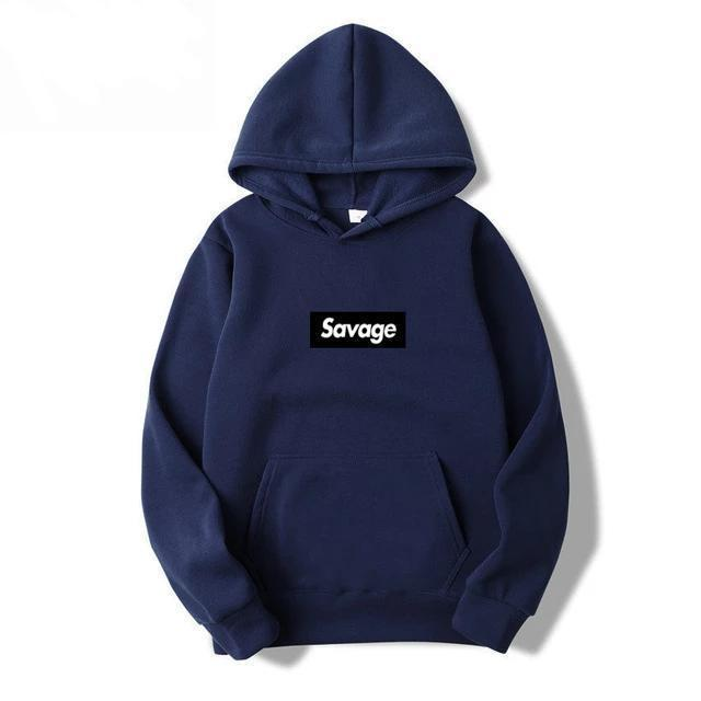 Hoodie SAVAGE x BLACK™ - Rose / S - Boutique en ligne Streetwear