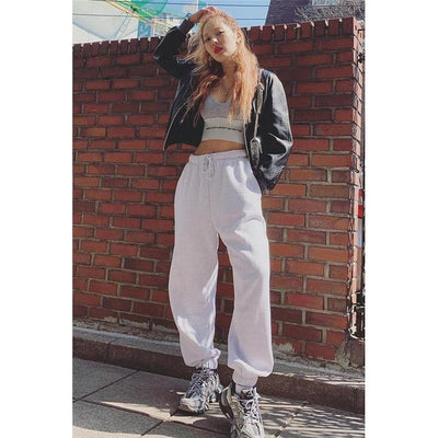 HOUZHOU Harem Pants for Women High Waist Trousers Women Loose Solid Casual Pants Jogger Mujer Hip Hop Hippie Sweatpants Women
