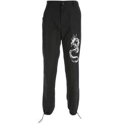 Pantalon WHITE DRAGON™ - Noir / L - Boutique en ligne Streetwear
