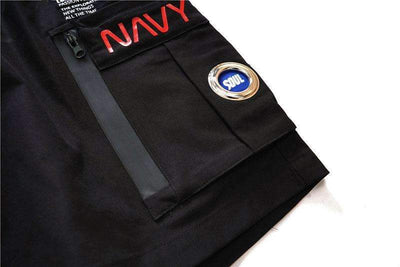 SHORT NAVY - Boutique en ligne Streetwear