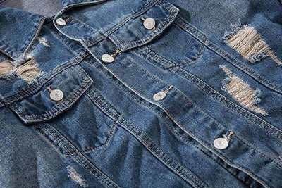 VESTE DENIM ROCK - Boutique en ligne Streetwear