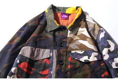 VESTE PATCH CAMO - Boutique en ligne Streetwear