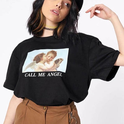 T-shirt CALL ME ANGEL - Boutique en ligne Streetwear
