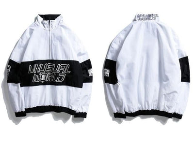 Veste UNUSUAL WORLD - Blanc / M - Boutique en ligne Streetwear