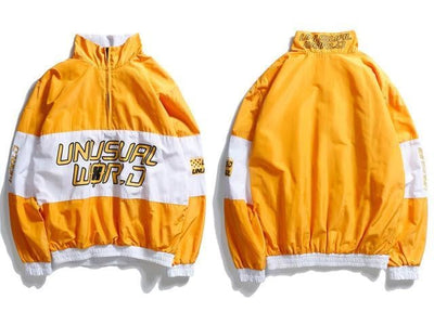 Veste UNUSUAL WORLD - Jaune / M - Boutique en ligne Streetwear
